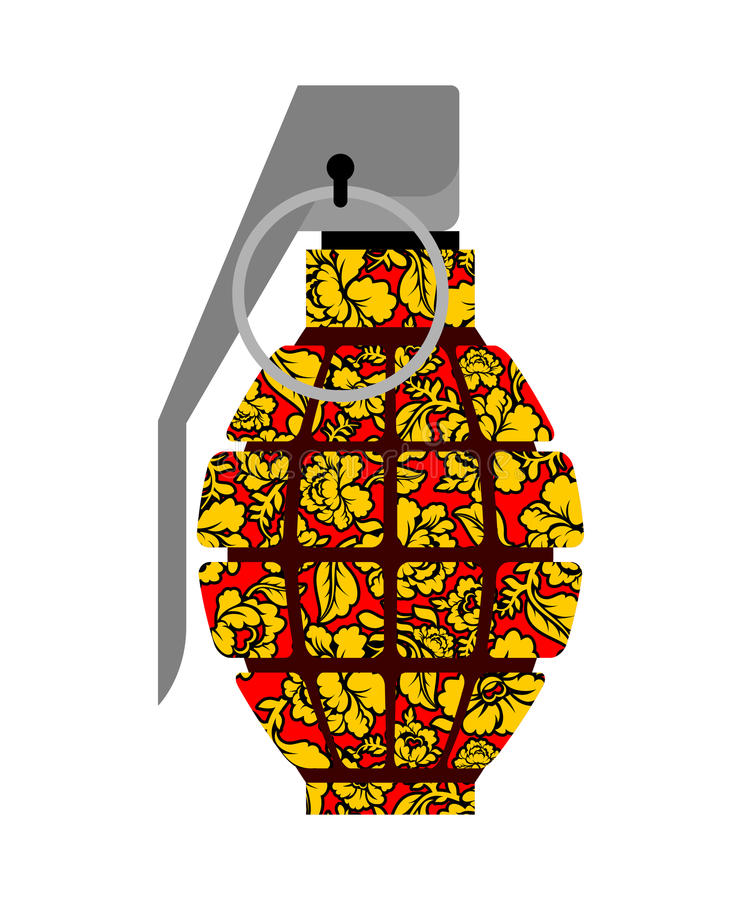 Estilo de Khokhloma do russo da granada ilustração royalty free
