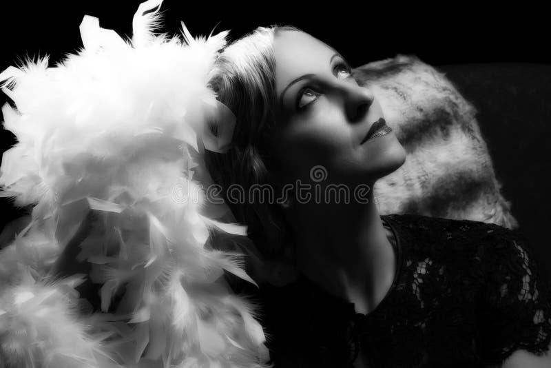 Estilo de la actriz de Hollywood fotos de archivo