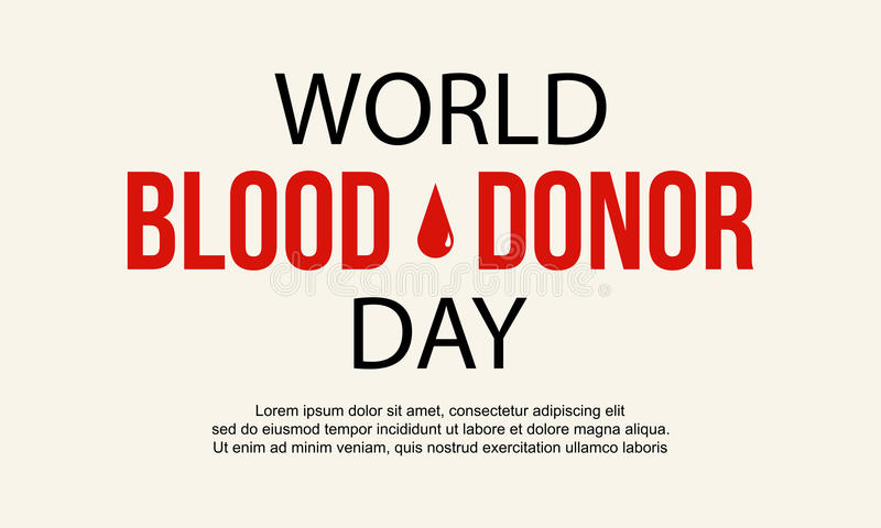 Estilo de la colección del diseño del día del donante de sangre stock de ilustración