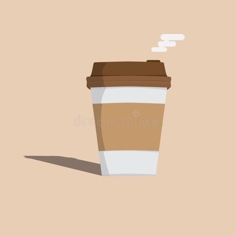 Estilo de la historieta del icono de la taza de café Vector Ilustraci?n ilustración del vector