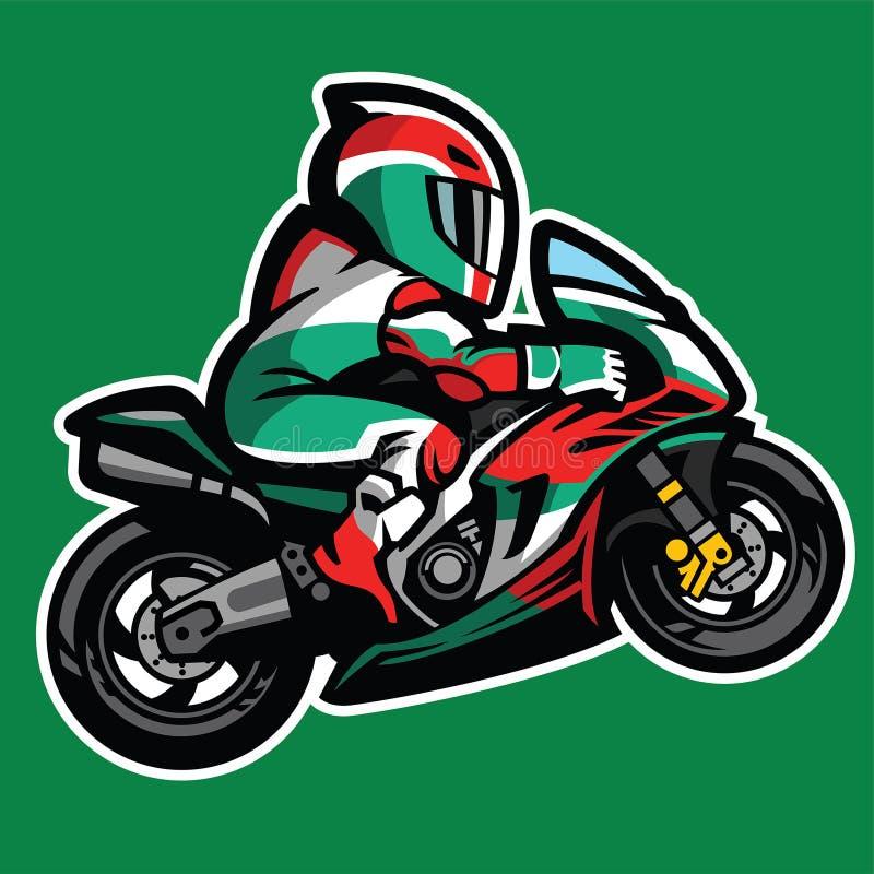 Estilo de la historieta del Wheelie del sportbike stock de ilustración