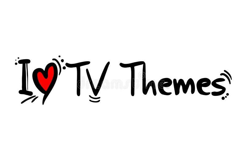 Estilo de la música de los temas de la TV ilustración del vector
