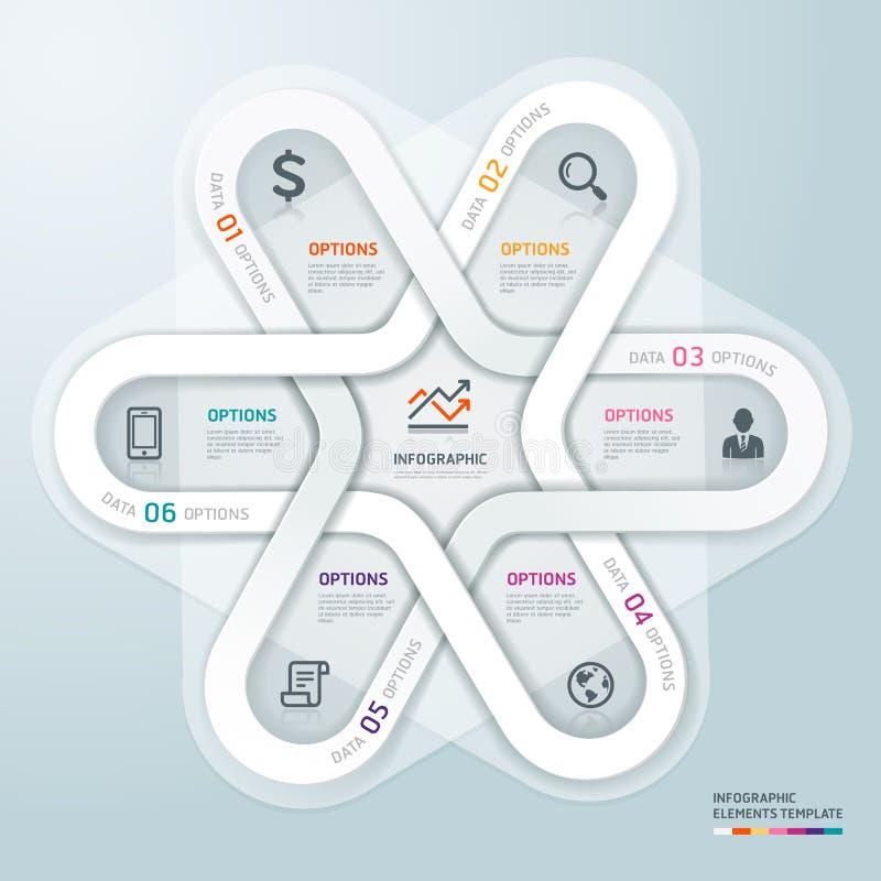 Estilo de la papiroflexia de Infographics de la esfera económica. ilustración del vector