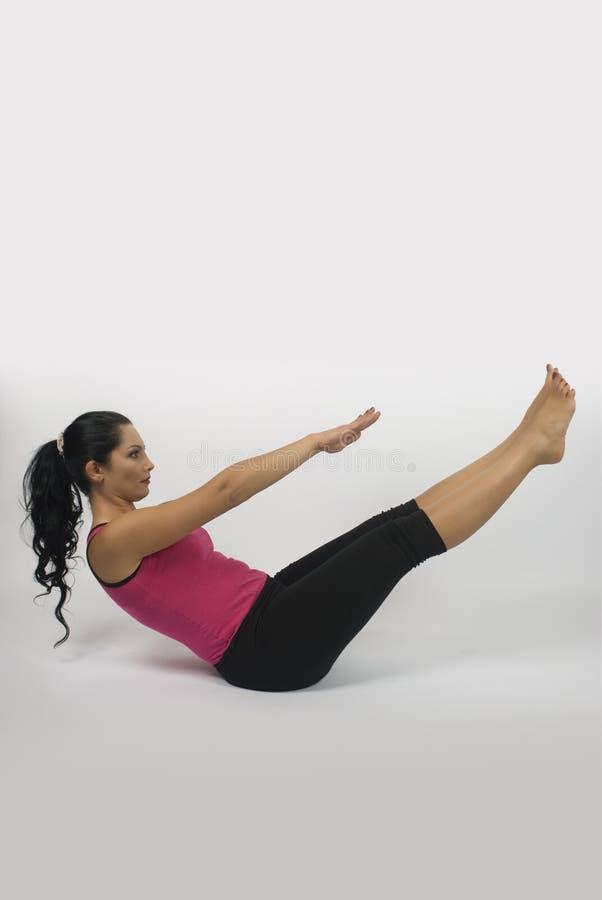 Estilo de la yoga imagen de archivo