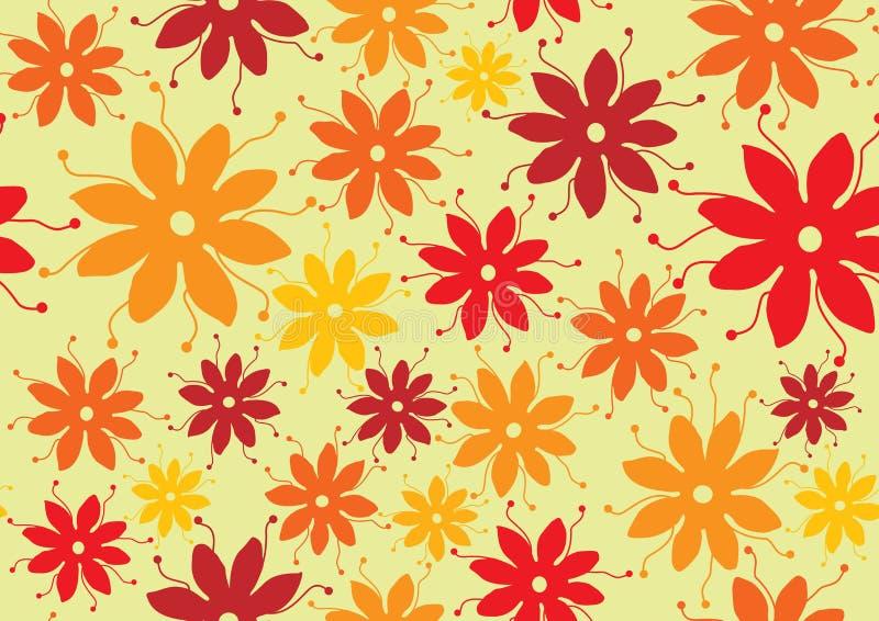Estilo de los años 70 del modelo de flor libre illustration