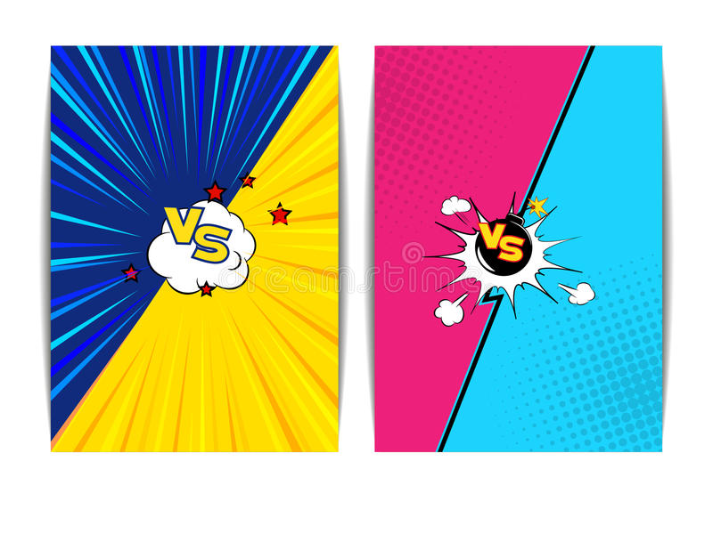 Estilo de los tebeos de la burbuja de la lucha libre illustration