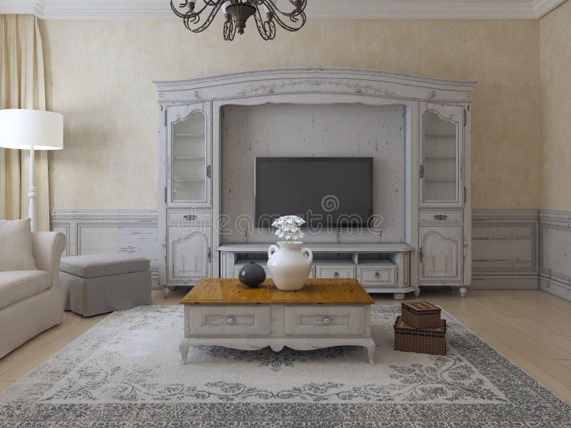 Estilo de lujo de Provence de la sala de estar ilustración del vector