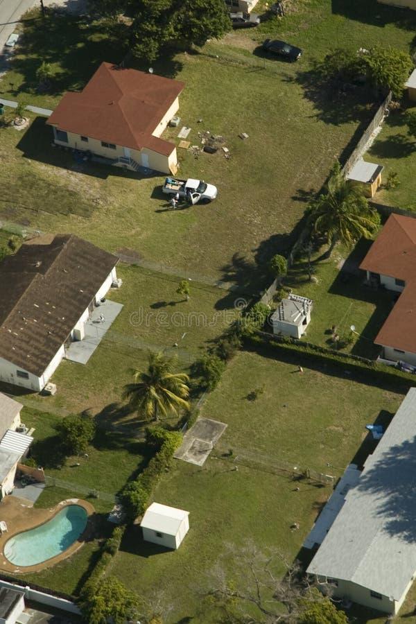 Área residencial en Miami imagen de archivo