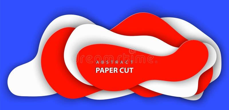 estilo de papel abstrato da arte 3D, disposição de projeto para apresentações do negócio, insetos, cartazes, bandeiras, decoração ilustração do vetor