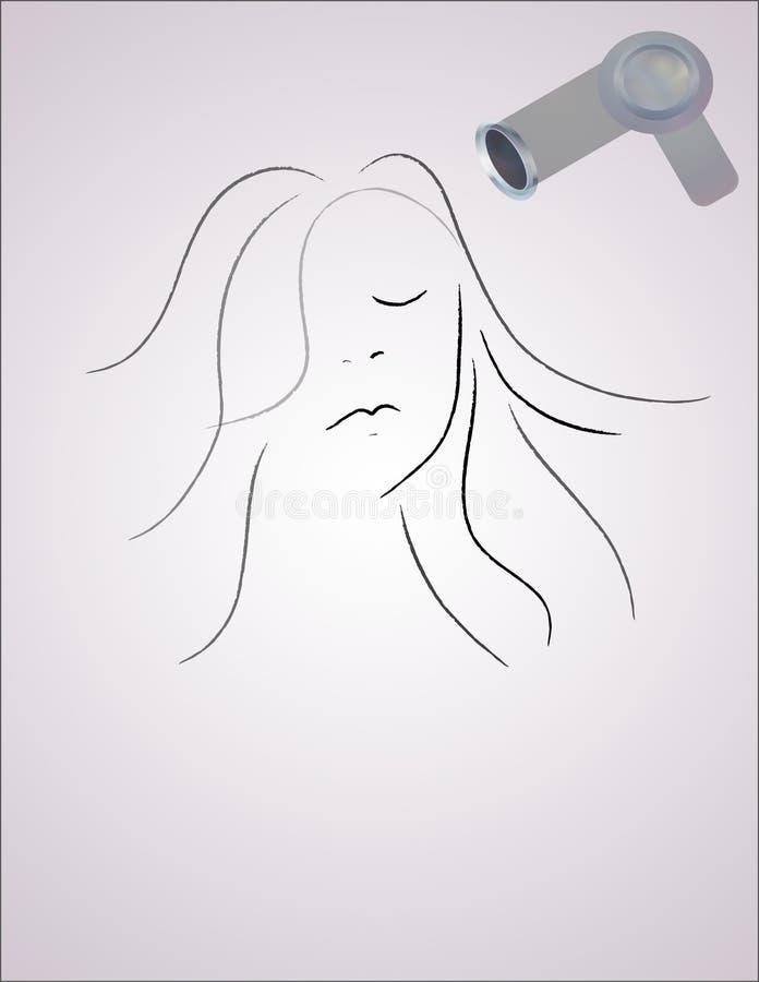 Estilo de pelo ilustración del vector
