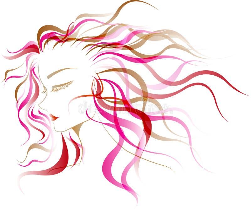 Estilo de pelo de las mujeres ilustración del vector