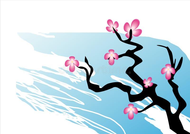 Estilo de Sakura Japanese ilustração stock