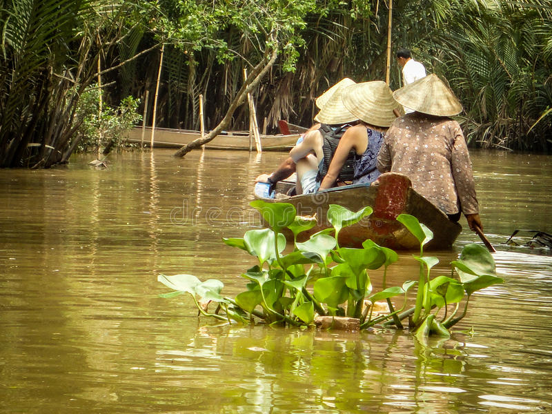 Estilo de vida do delta de Mekong foto de stock