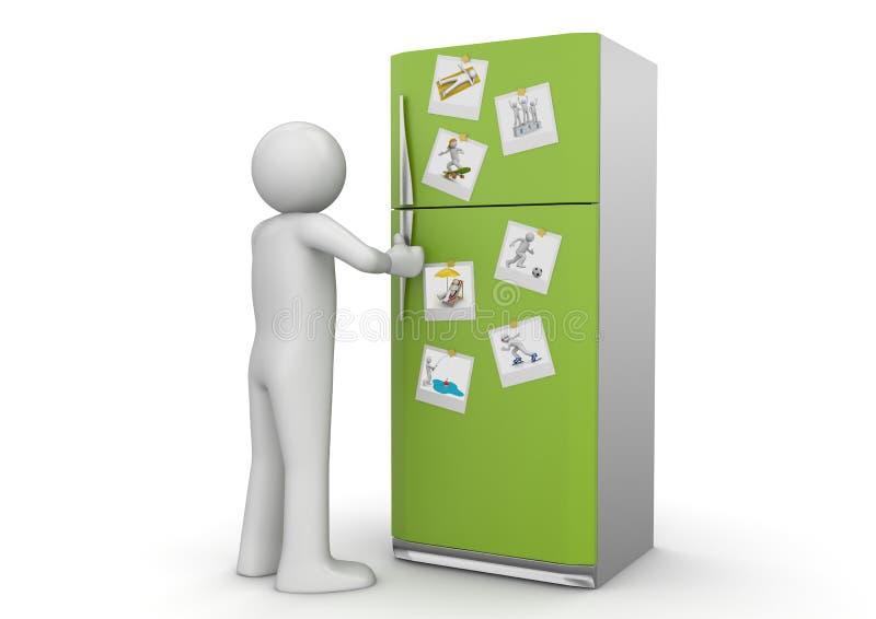 Download Estilo De Vida - Fotos No Refrigerador Ilustração Stock - Ilustração de polaroid, unrecognisable: 14281644