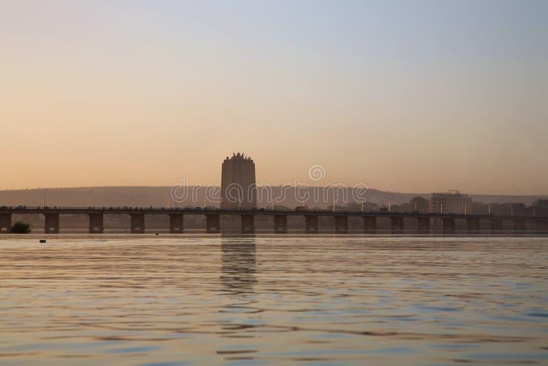 Estilo de vida no delta de Niger fotografia de stock