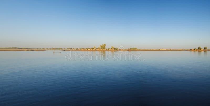 Estilo de vida no delta de Niger imagem de stock