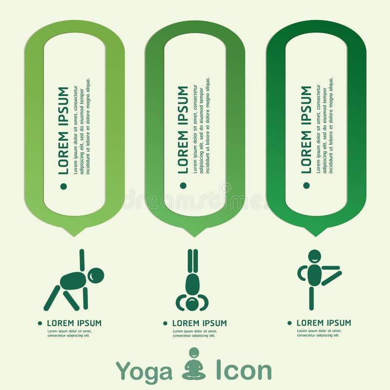 Estilo de vida saudável infographic, vetor da ioga ilustração do vetor