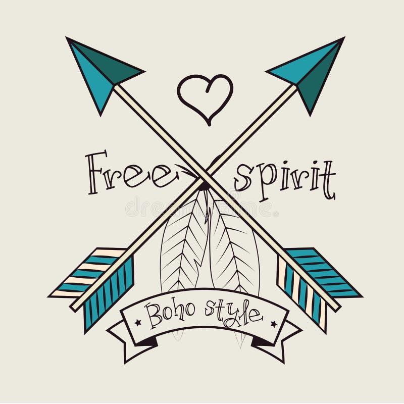 Estilo del boho del espíritu libre libre illustration