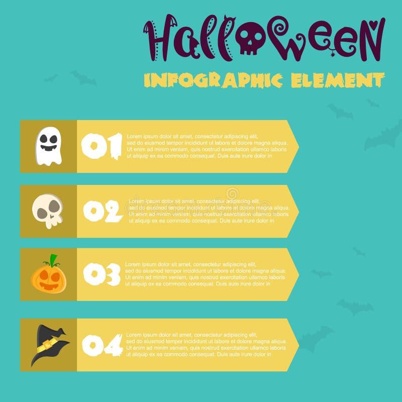 Estilo del diseño de Infographic del feliz Halloween libre illustration