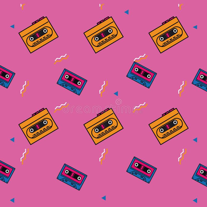 estilo del fondo 80s stock de ilustración