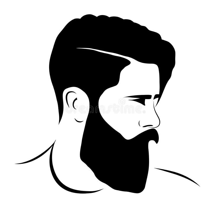 Estilo del inconformista de la silueta del hombre ilustración del vector