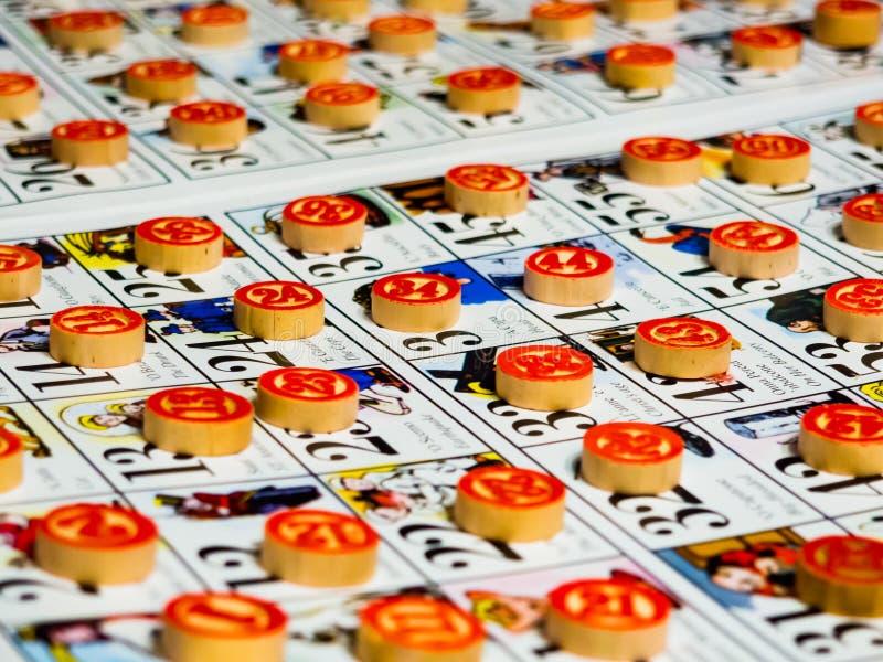 Estilo del italiano del juego del bingo imagen de archivo