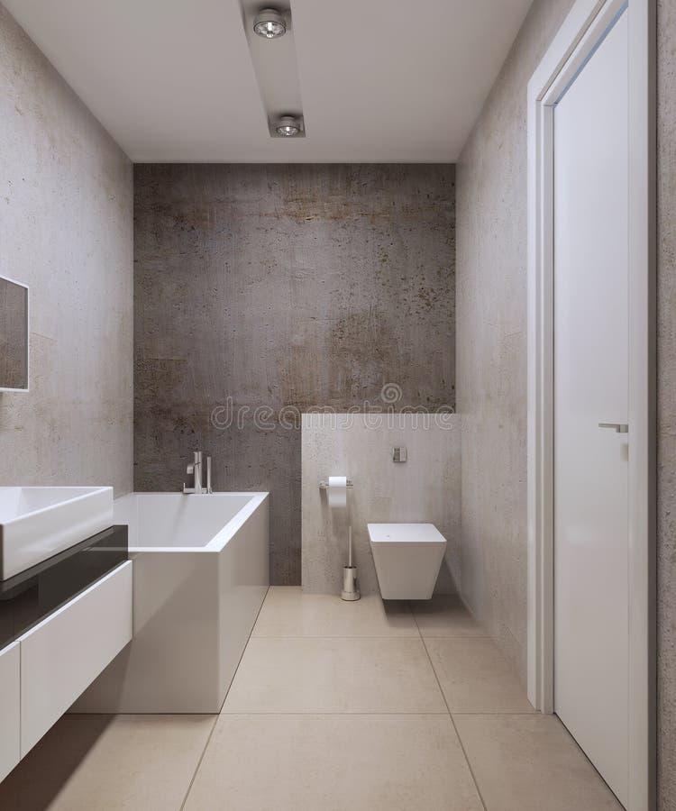 Estilo del minimalist del cuarto de baño ilustración del vector