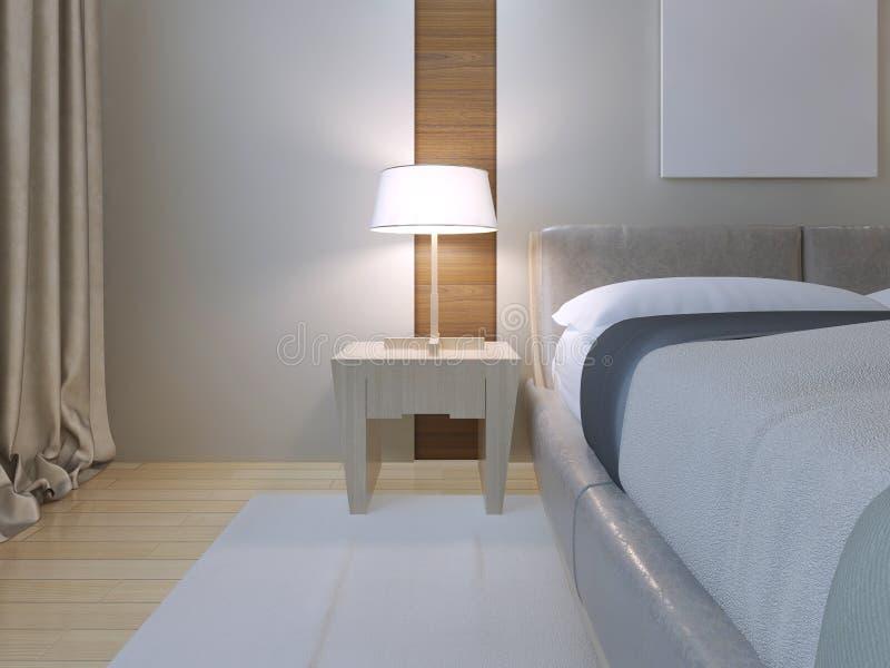 Estilo del minimalist del dormitorio stock de ilustración