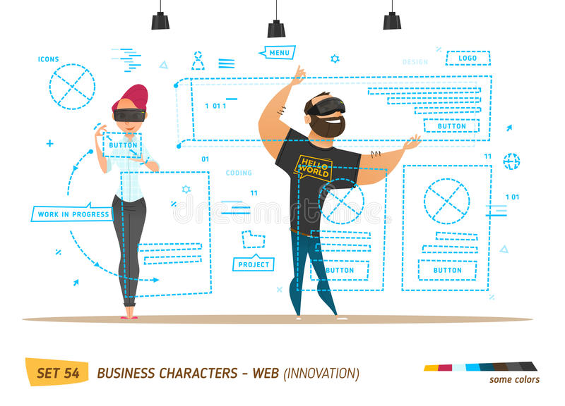 Estilo del negocio de la innovación Crear el sitio web libre illustration