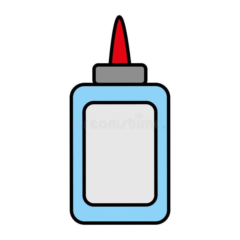 Estilo del utensilio de la escuela de la botella del pegamento del color libre illustration