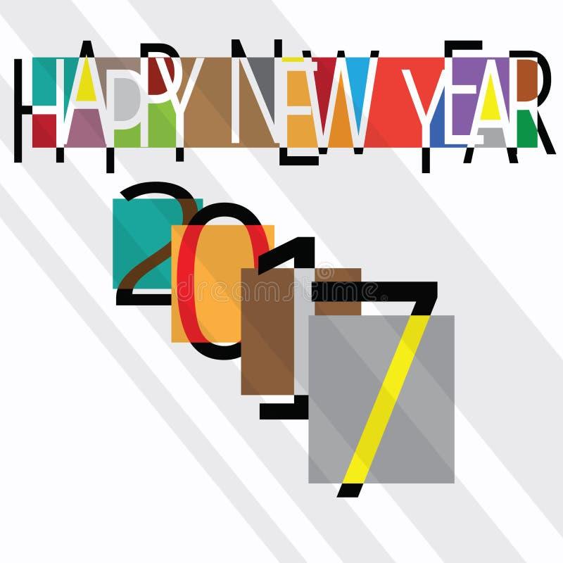 Estilo 2007 del vintage de la Feliz Año Nuevo ilustración del vector