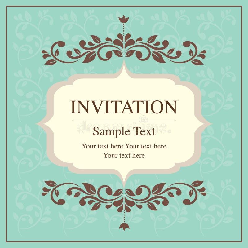 Estilo del vintage de la tarjeta de la invitación libre illustration