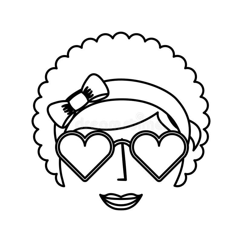 estilo do afro do caráter da mulher ilustração royalty free