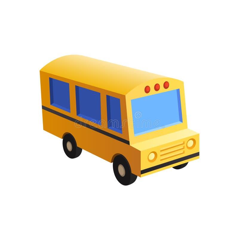 Estilo do brinquedo do ônibus escolar foto de stock