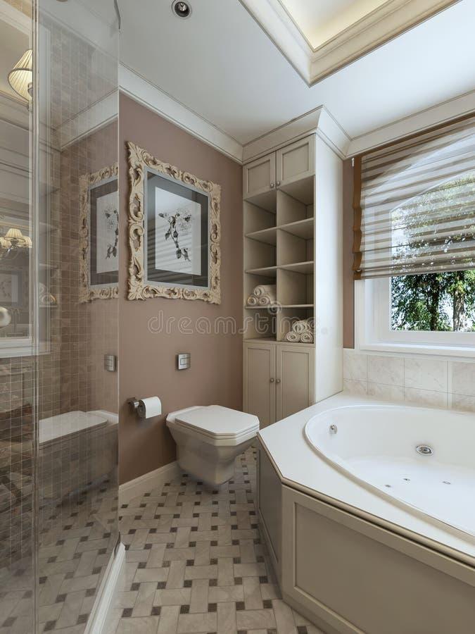 Estilo do clássico do banheiro ilustração royalty free