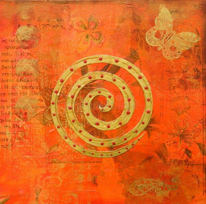 Estilo do indian da arte -final ilustração do vetor