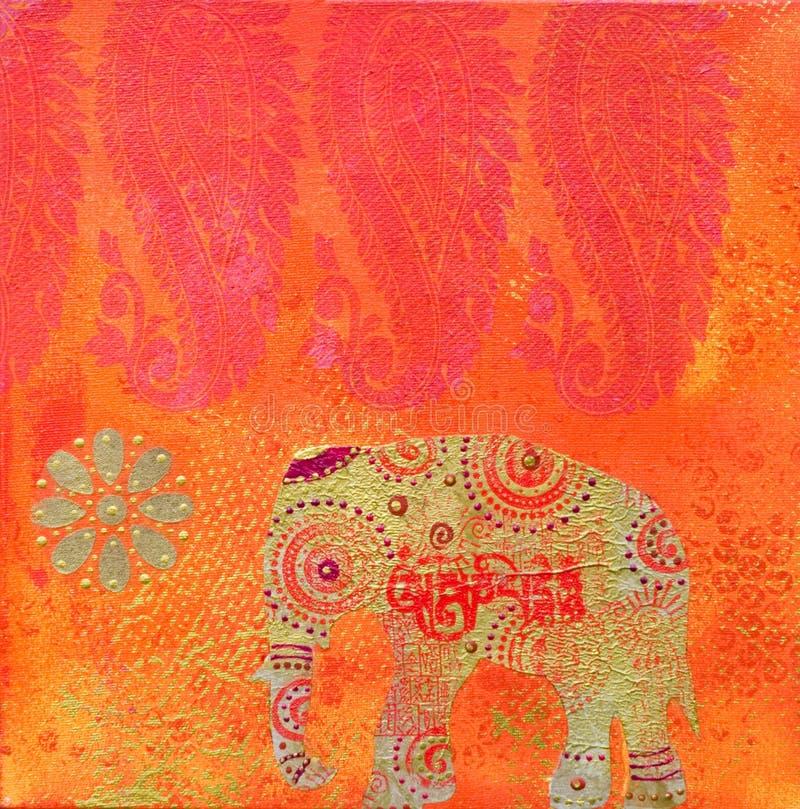 Estilo do indian da arte -final ilustração royalty free