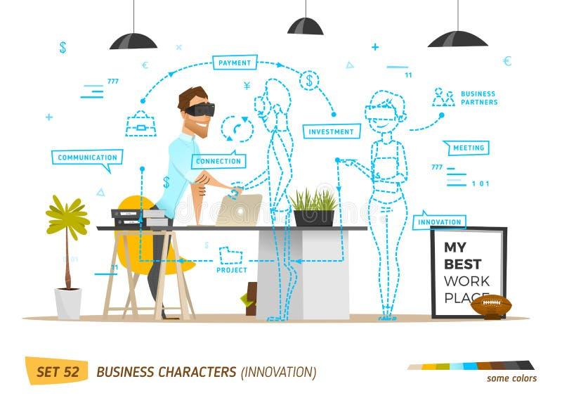 Estilo do negócio da inovação na situação do escritório ilustração royalty free