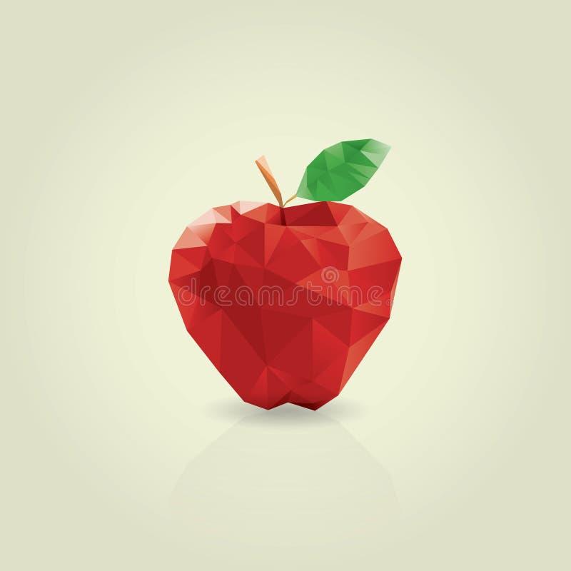 Estilo do origâmi do sumário de Apple foto de stock