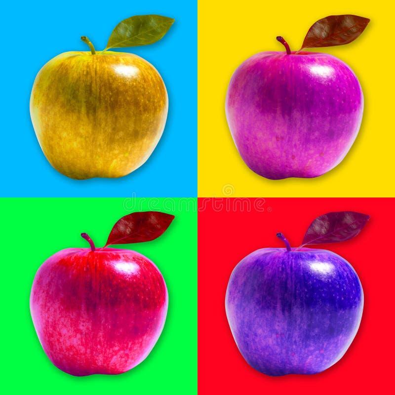 Estilo do pop art de Apple ilustração do vetor