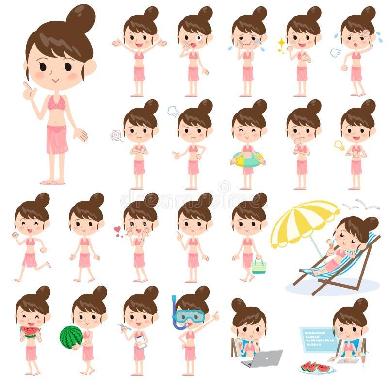 Estilo do roupa de banho da mamã ilustração stock