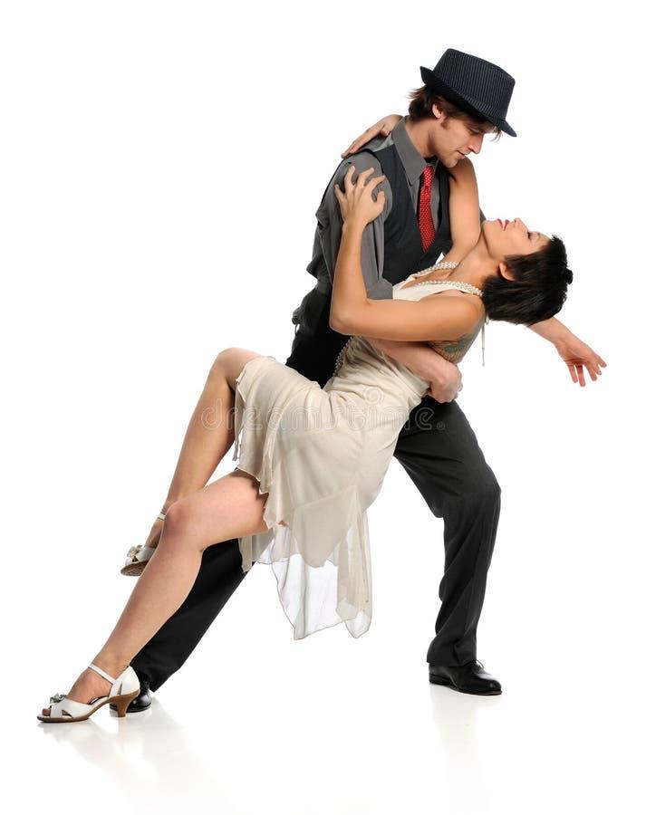 Estilo do salão de baile da dança dos pares foto de stock royalty free