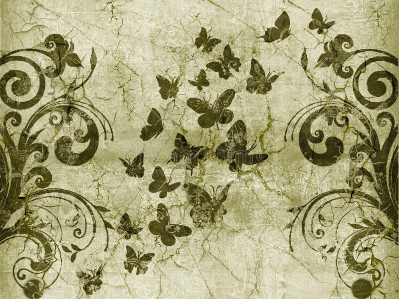 Estilo do vintage da borboleta ilustração royalty free