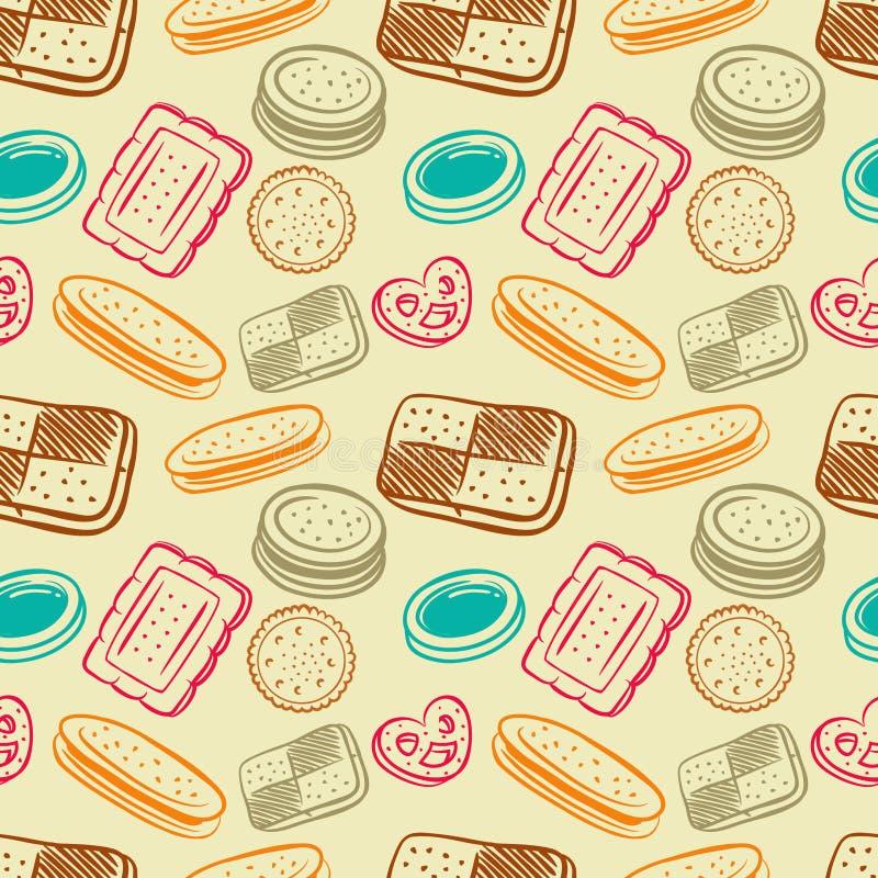 Download Teste padrão do biscoito ilustração stock. Ilustração de atolamento - 29827138