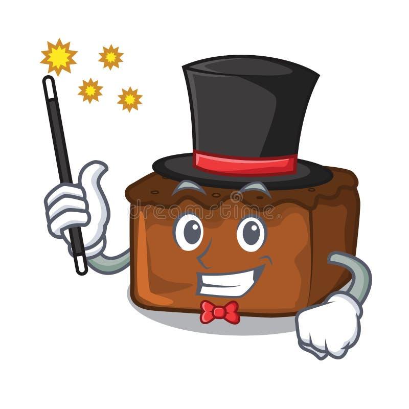Estilo dos desenhos animados da mascote das brownies do mágico ilustração royalty free