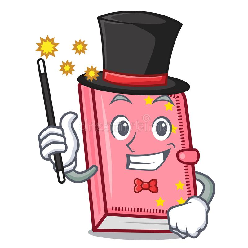 Estilo dos desenhos animados da mascote do diário do mágico ilustração royalty free