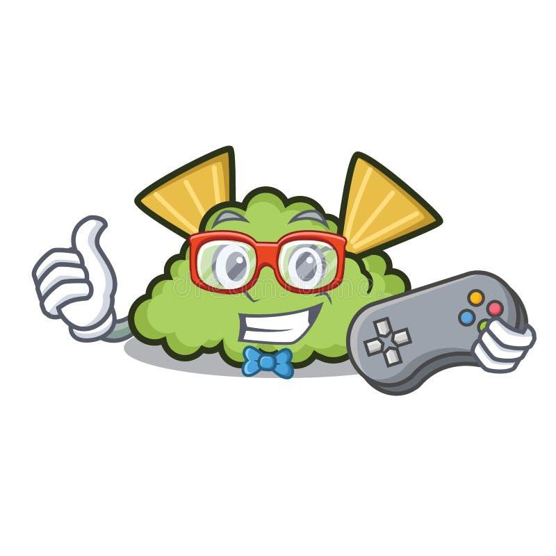 Estilo dos desenhos animados da mascote do guacamole do Gamer ilustração royalty free