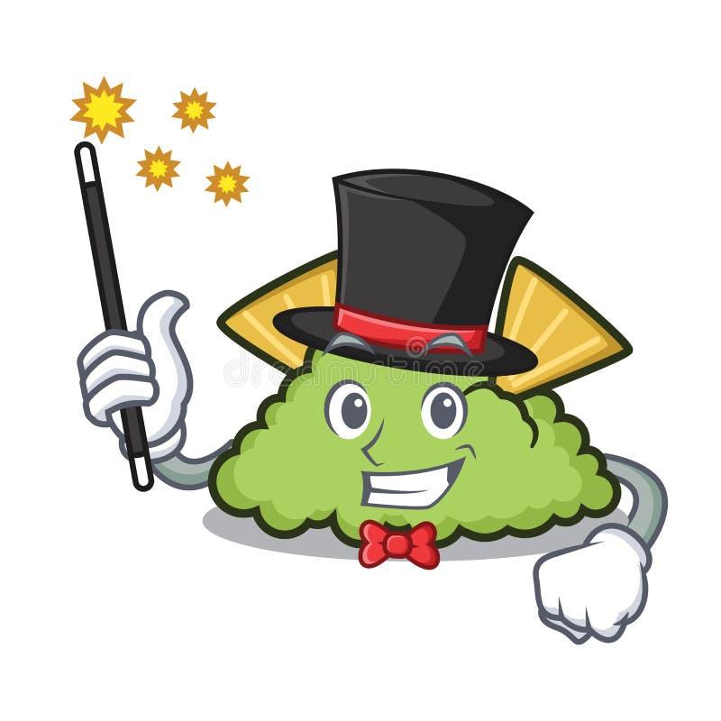 Estilo dos desenhos animados da mascote do guacamole do mágico ilustração royalty free