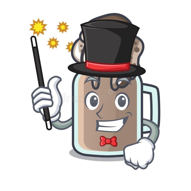 Estilo dos desenhos animados da mascote do milk shake do mágico ilustração royalty free