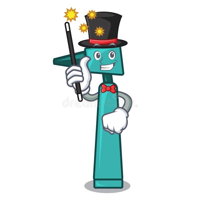 Estilo dos desenhos animados da mascote do otoscope do mágico ilustração do vetor